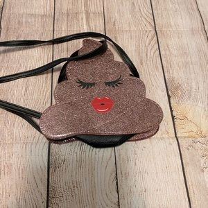 Handbags - Glitter Poop Emoji Purse